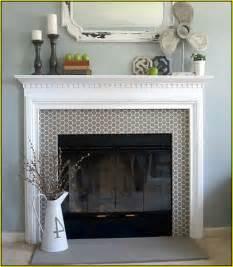 Faux Candle Chandelier Tile Fireplace Surround Designs Home Design Ideas