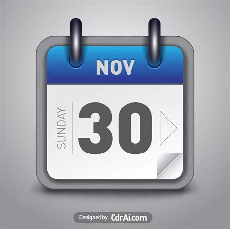 calendar icon vector blue   cdrai
