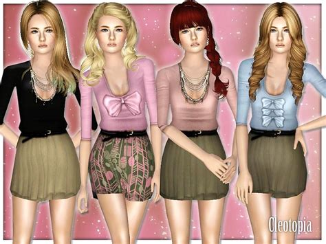 sims 2 clothing the sims resource cleotopia s teen casual cute dresses set
