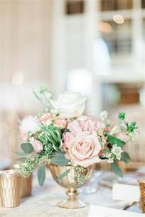 blush and gold centerpieces blush and gold wedding flowers elizabeth designs
