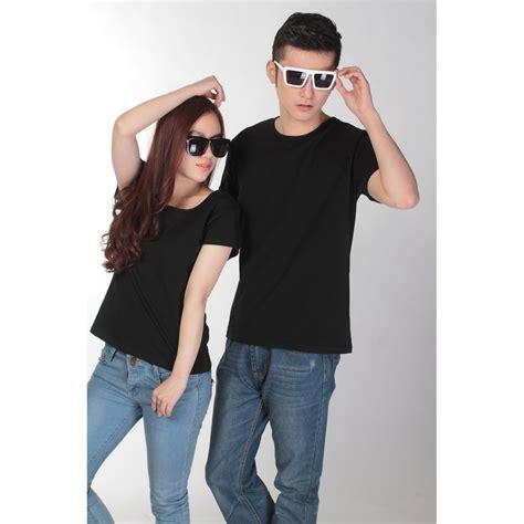 kaos polos katun wanita u neck size s 81301 t shirt black jakartanotebook