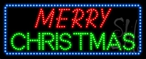 merry christmas animated led sign holiday special occasions led signs   neon