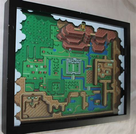 How To Make A Diorama With Paper - 3d paper dioramas of classic videogames sprite stitch