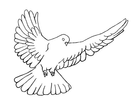Holy Spirit Dove Pentecost Coloring Page Crossmap Holy Spirit Coloring Page