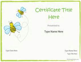 certificate template for children blank certificates blank certificate template for