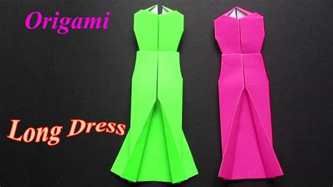 How To Make An Origami Dress - origami dress easy origami dress step by step