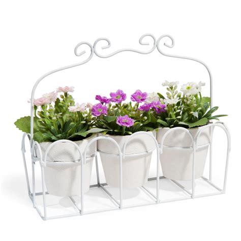 vasi maison du monde 3 vasi di fiori con struttura in metallo h 15 cm maisons