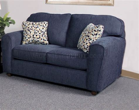 navy blue loveseat blaze navy fabric modern sofa loveseat set w options