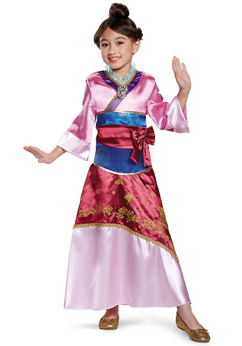 disney themed clothing for adults mulan deluxe child costume