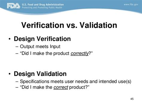design verification is design control fda requirements