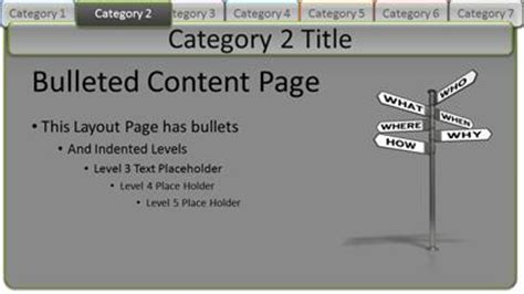 Interactive Tabs Category Pages A Powerpoint Template From Presentermedia Com Powerpoint Tabs Template