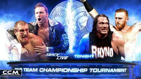 match cards tag team template the hype bros vs heath slater rhyno smackdown live