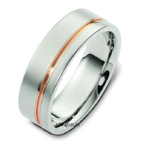 mens   tone gold wedding band ring ebay