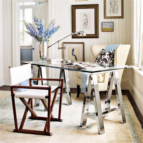 williams sonoma mason desk mason glass top desk polished nickel williams sonoma
