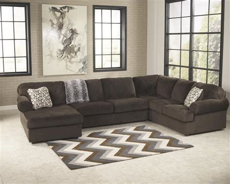 ashley furniture chocolate sectional jessa place chocolate left arm facing chaise sectional by