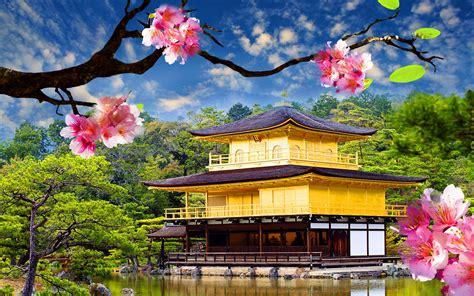 golden pavilion kinkaku ji wide wallpaperscom