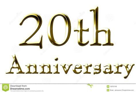 20th anniversary royalty free stock image image 10913146