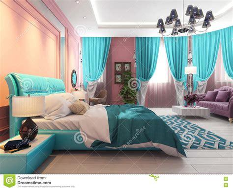 bett mit überlänge schlafzimmer mit einem bett und einem sofa rosa vorh 228 nge