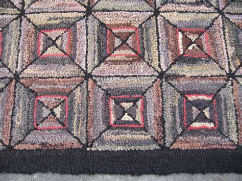 Folk Rugs by Spectacular Geometric Vintage American Folk Hook Rug
