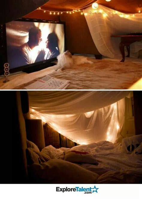 cute romantic themes 19 diy movie date night ideas at home netflix forts and