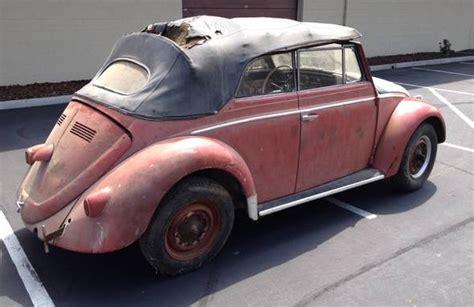 vw beetle convertible cali survivor