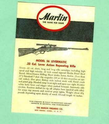 Manuals Marlin Owners Manual Model