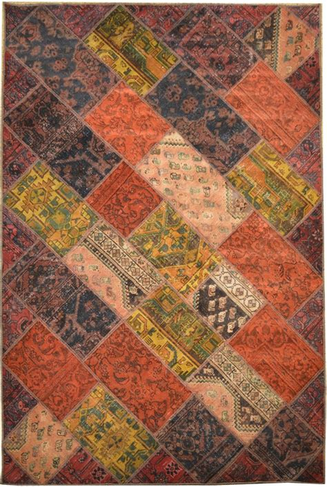 home made rugs home made dye 6x9 antique patchwork rug ebay