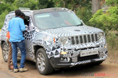 skoda jeep jeep renegade spotted testing alongside the skoda yeti