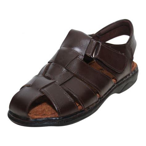 mens summer sandals moza x mens brown leather velcro gladiator summer sandals
