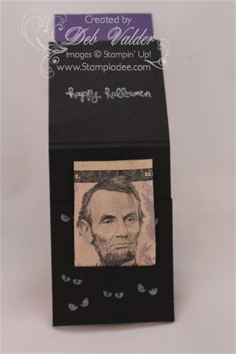 Deb Gift Card - spooky halloween treat holder using freaky friends with deb valder stladee com