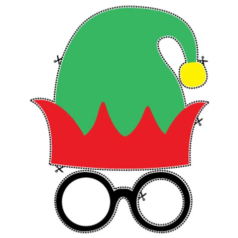 printable elf mask christmas fancy dress accessories party delights
