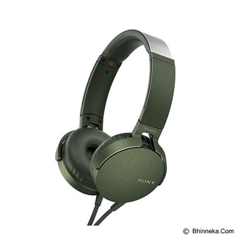 Headphone Sony Bass Diskon jual headphone portable sony bass headphone mdr xb550ap green original diskon