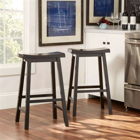 Kitchen Counter Chairs by Saddle Seat Bar Stools Set Of 2 Wood Kitchen Counter