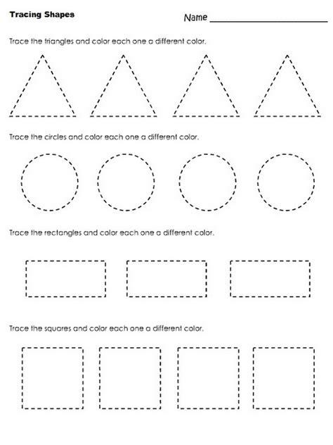 worksheets for pre k pre k shapes worksheets activity shelter
