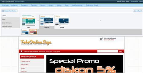 template toko online versi mobile update script toko online versi mobile ganti background