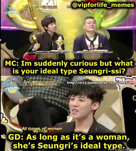 exo ideal type quiz meme center allkpop lol seungri s life song right there