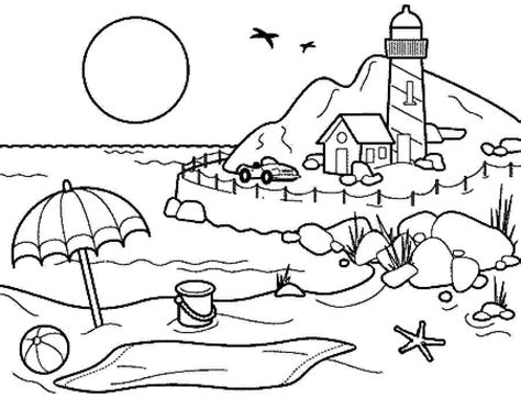 coloring book views coloring pages summer season pictures for drawing