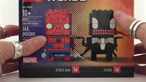 Lego Brickheadz Sdcc 41497 Spider Venom Original exclusive sdcc 2017 lego brickheadz 41496 41497