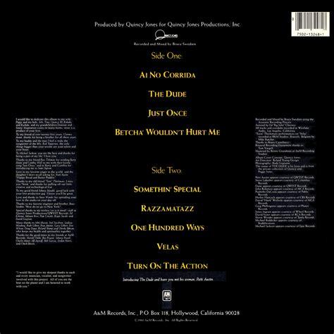 quincy the quincy jones the dude vinyl album covers