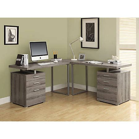 monarch l shaped desk monarch specialties l shaped computer desk with file