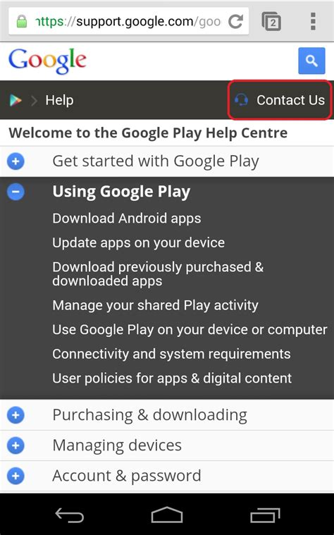 how do i contact play store support gumi self