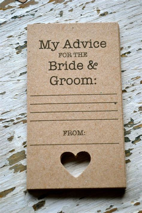 Wedding Advice Guest Book by Rustic Wedding Advice Cards