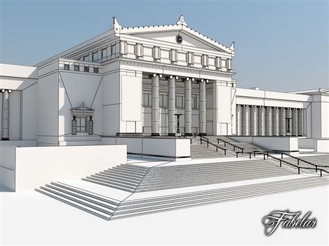 Museum Builders building 07 field museum 3d model ready max obj 3ds fbx c4d dae cgtrader