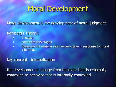 What Is L Development by Ppt Kohlberg S Theory And His Critics Powerpoint