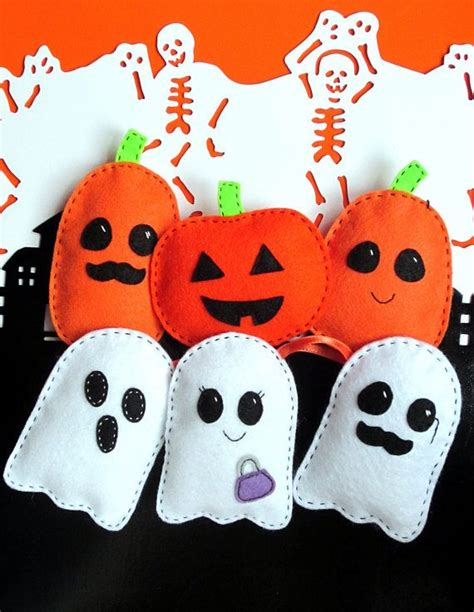 felt ghost pattern easy halloween felt softie pattern ghosts and pumpkin pdf