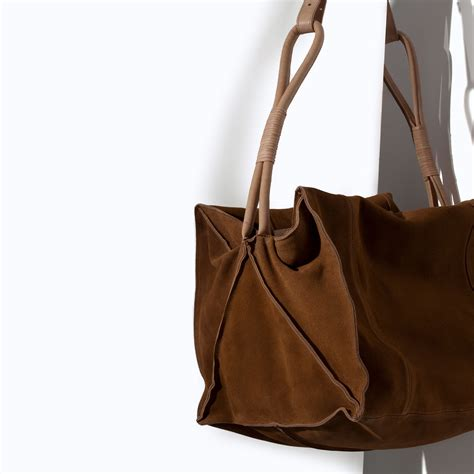 Zara Bag 4 zara soft bowling bag in for lyst