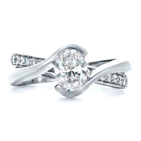 custom interlocking engagement ring 1437
