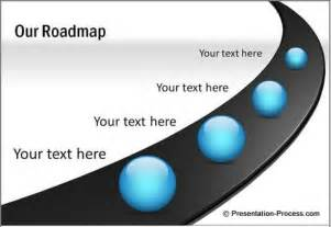 process road map templates powerpoint slides design glossy in powerpoint 2007