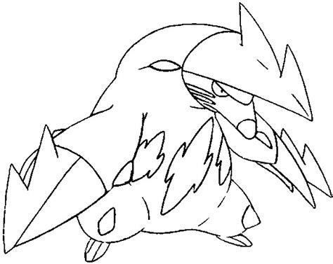 Pokemon Excadrill Coloring Pages | coloring pages pokemon excadrill drawings pokemon