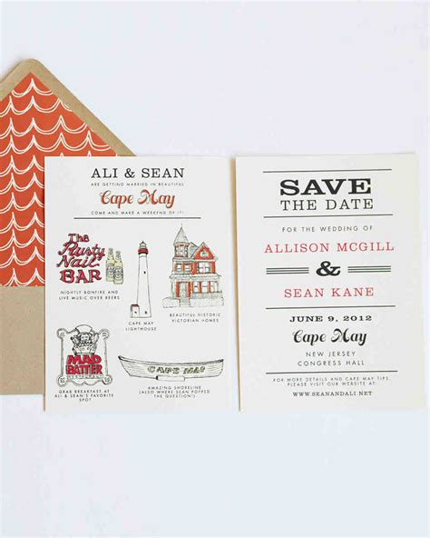 Save The Date by 32 Destination Wedding Save The Dates Martha Stewart